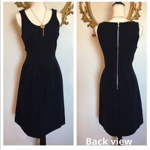 J•Crew Pleated Flare Dress in Navy Color Size 6
